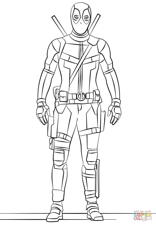 Deadpool coloring #17, Download drawings