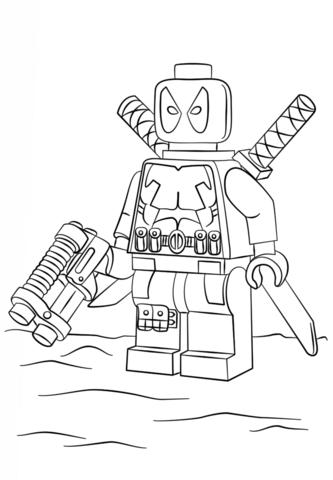 Deadpool coloring #15, Download drawings