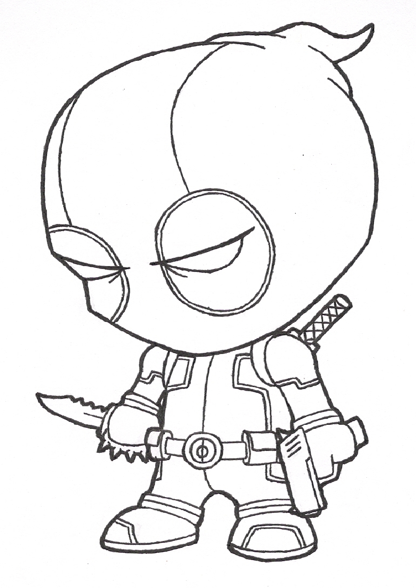 Deadpool coloring #5, Download drawings