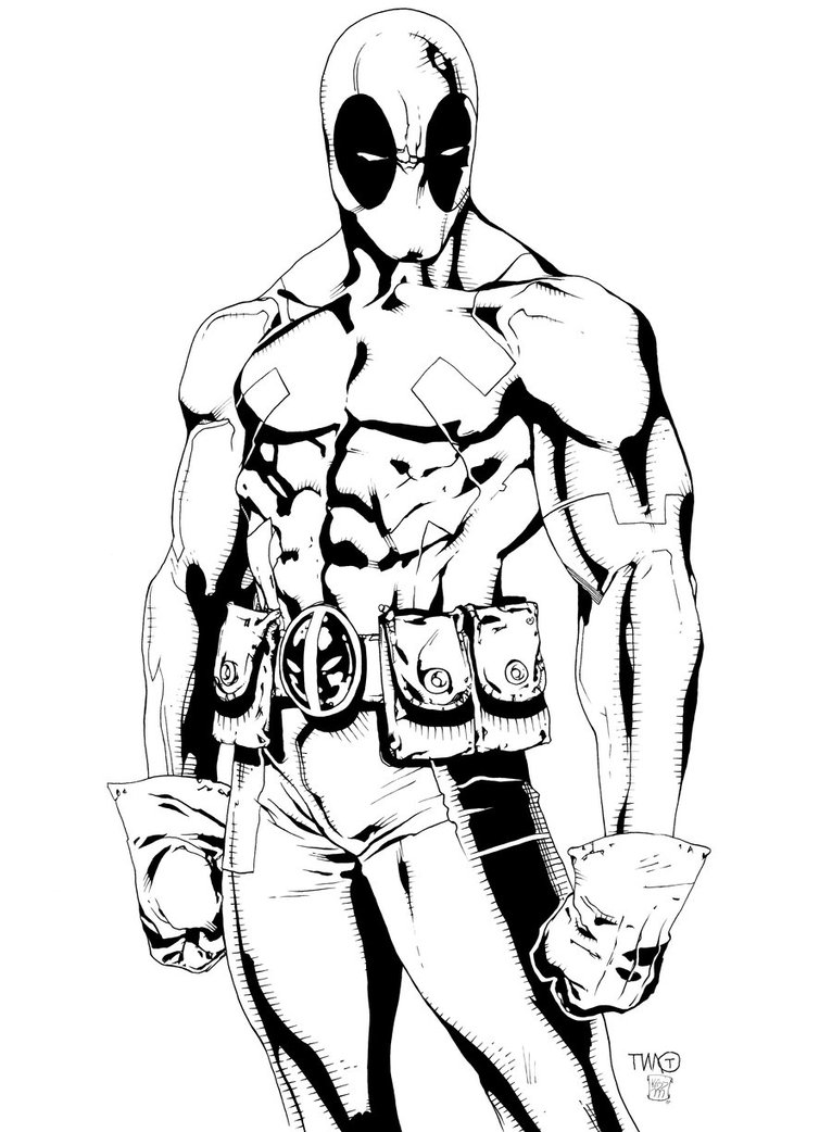 Deadpool coloring #20, Download drawings