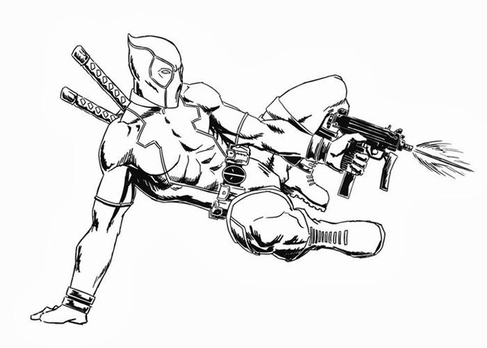 Deadpool coloring #4, Download drawings