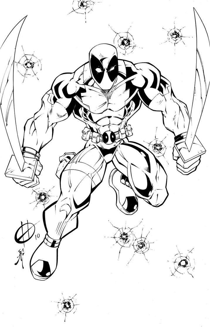 Deadpool coloring #3, Download drawings