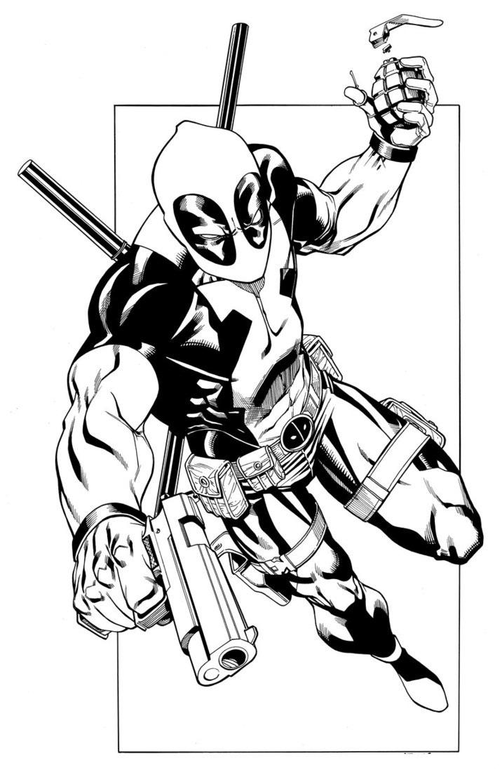 Deadpool coloring #19, Download drawings