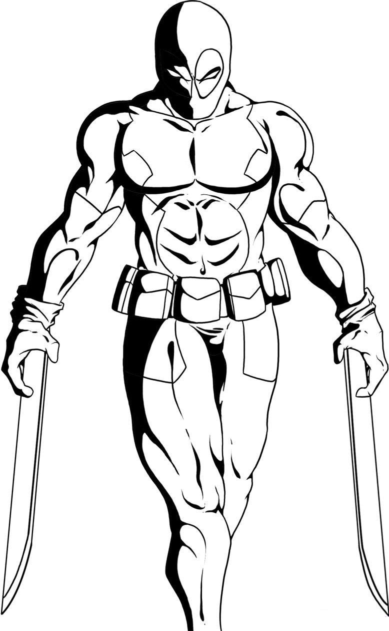 Deadpool coloring #14, Download drawings