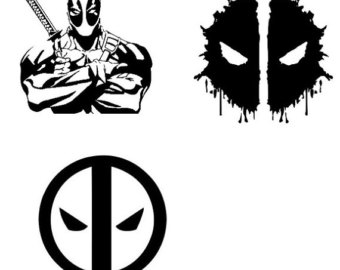 Deadpool svg #3, Download drawings