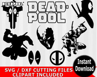 Deadpool svg #11, Download drawings