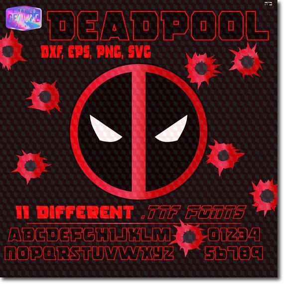 Deadpool svg #2, Download drawings