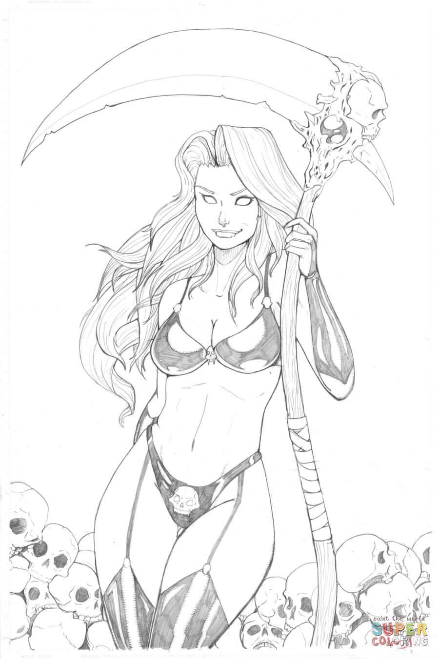 Goddess coloring #6, Download drawings
