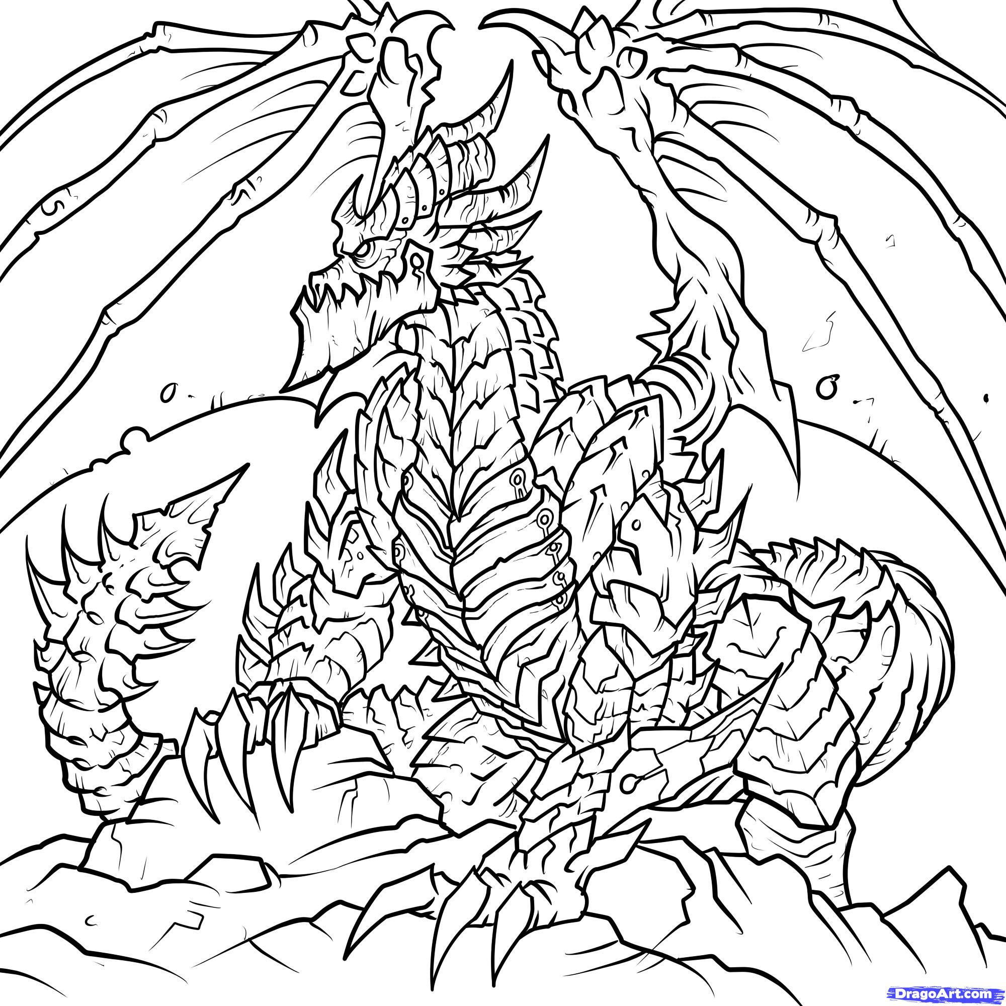 Deathwing (World Of Warcraft) coloring #7, Download drawings
