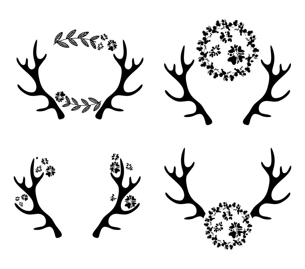 deer antler svg #470, Download drawings