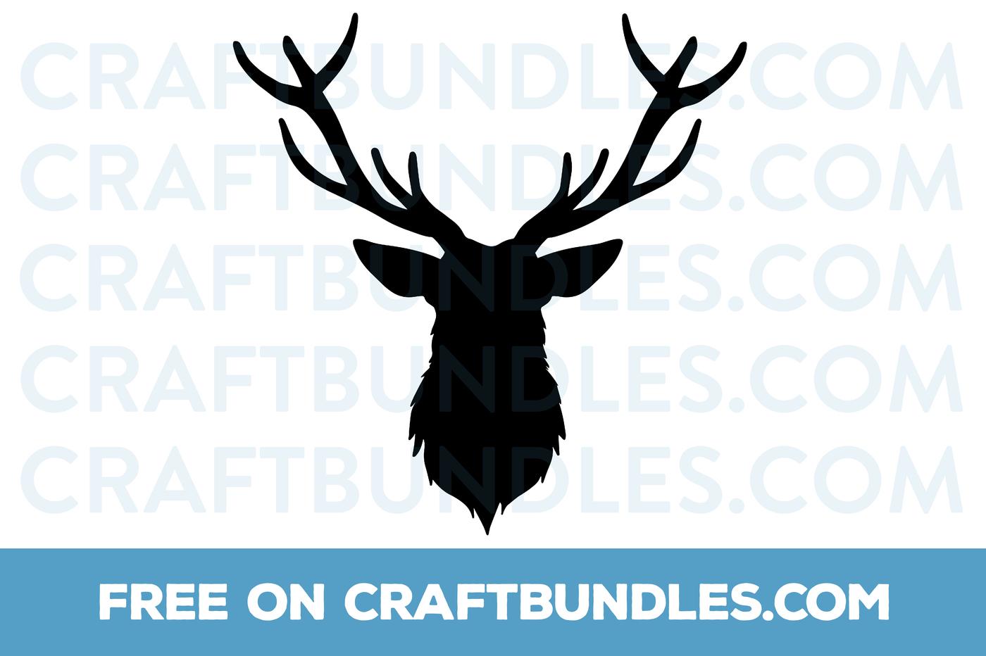 deer head svg free #449, Download drawings