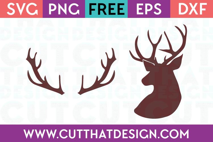 deer head svg free #431, Download drawings