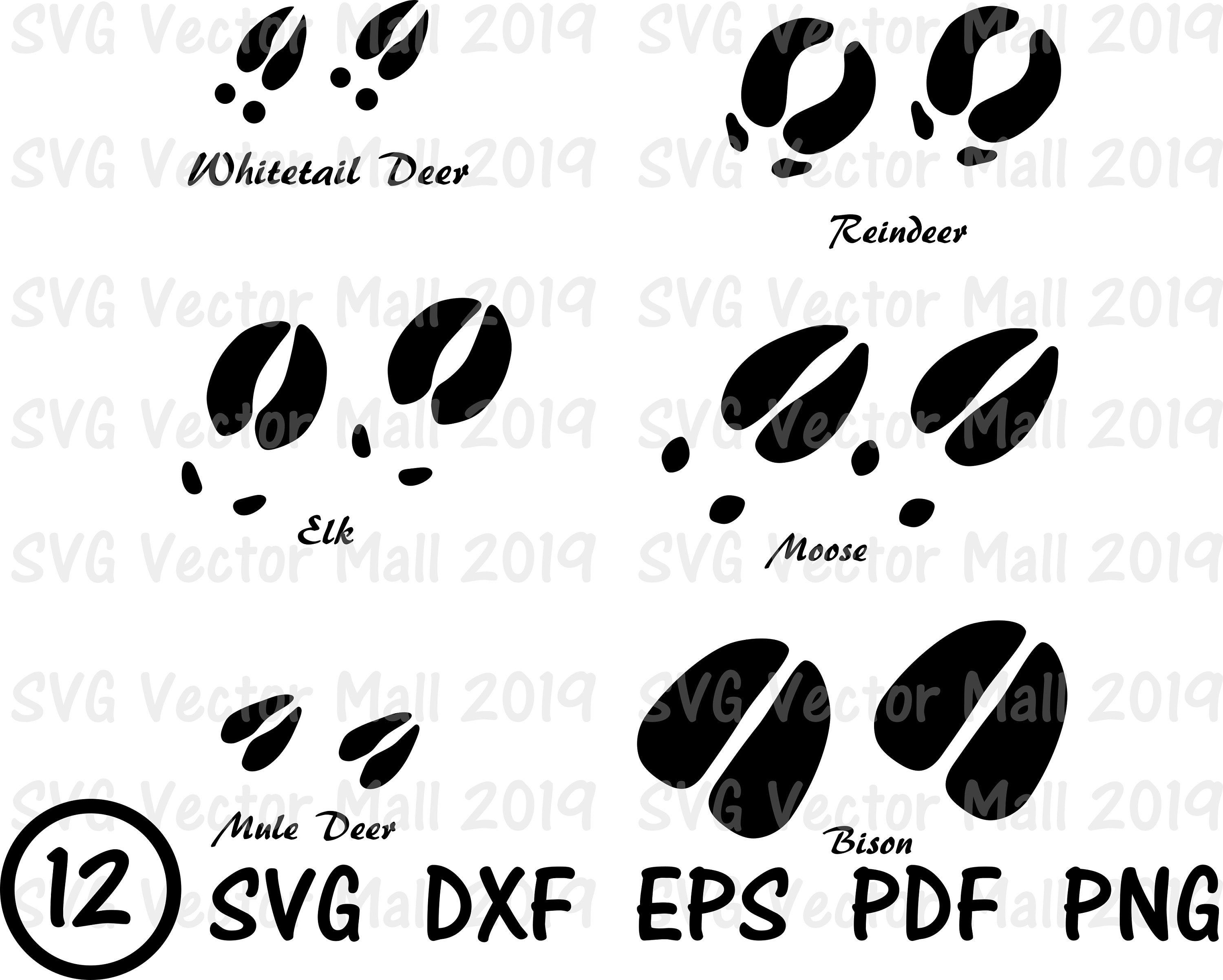 deer tracks svg #1215, Download drawings