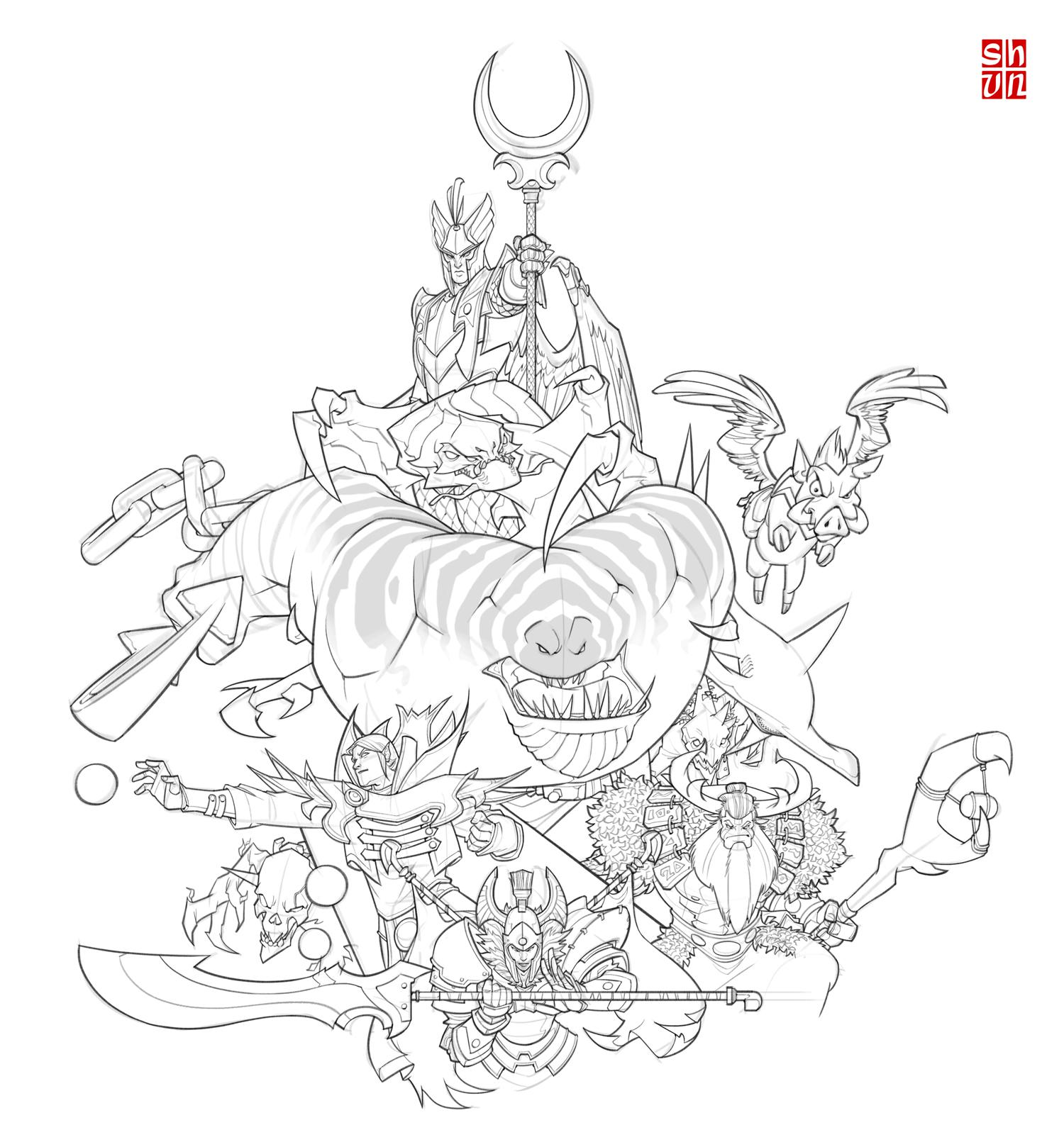 DotA 2 coloring #18, Download drawings