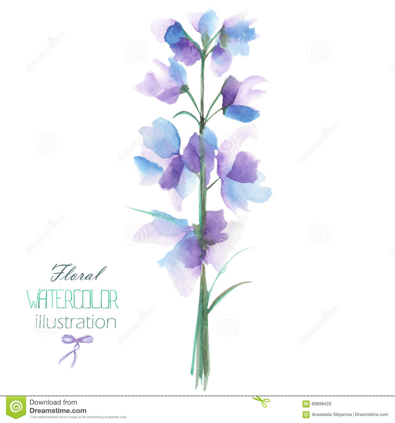 Delphinium clipart #6, Download drawings