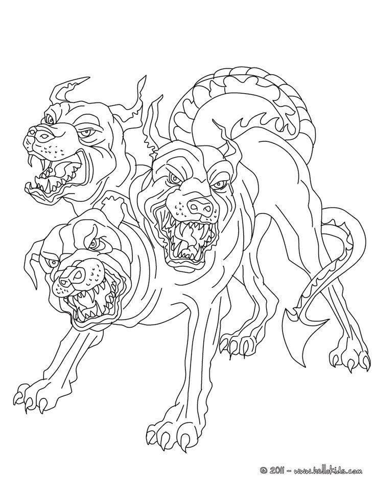 Demon coloring #1, Download drawings
