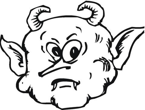 Demon coloring #6, Download drawings