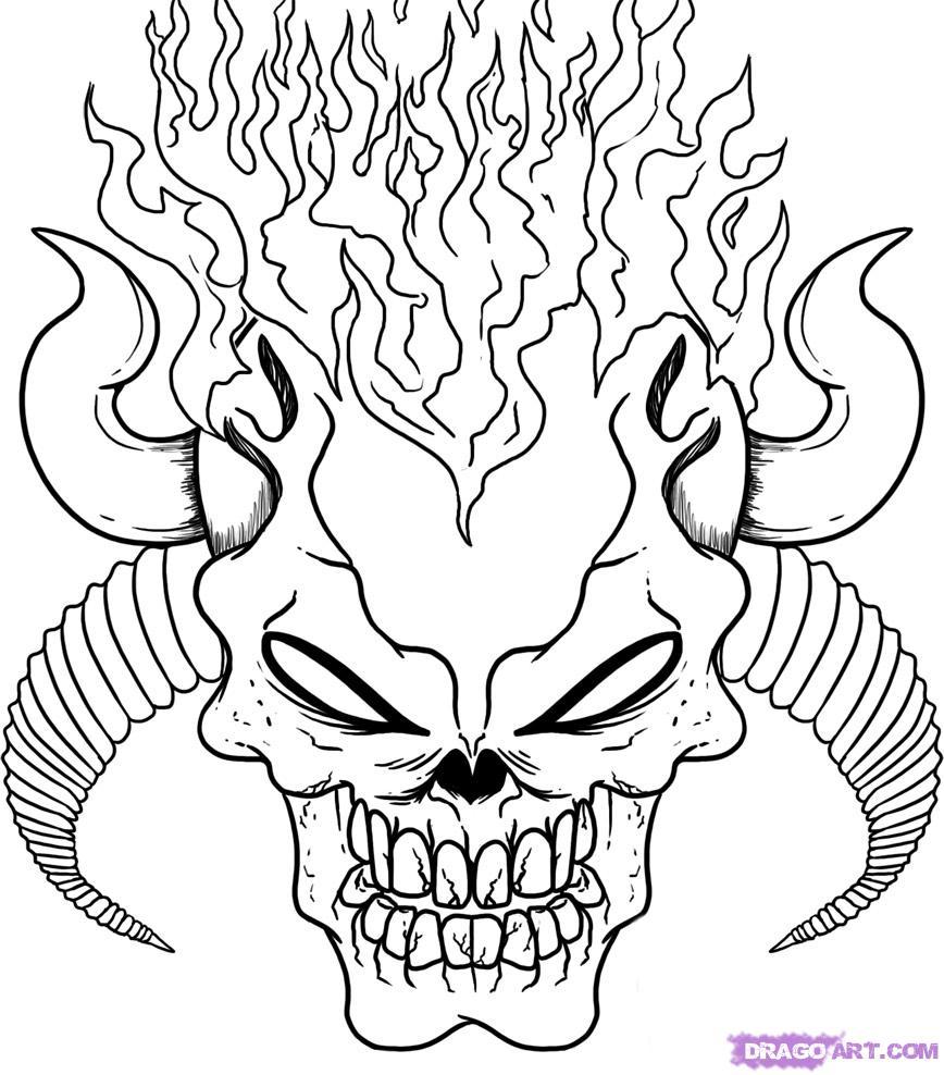 Demon coloring #5, Download drawings