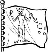 Demon coloring #9, Download drawings