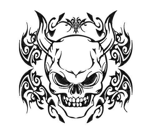 Demon coloring #10, Download drawings