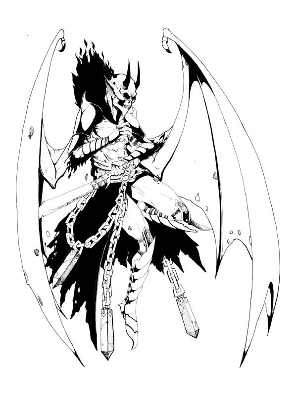 Demon coloring #8, Download drawings