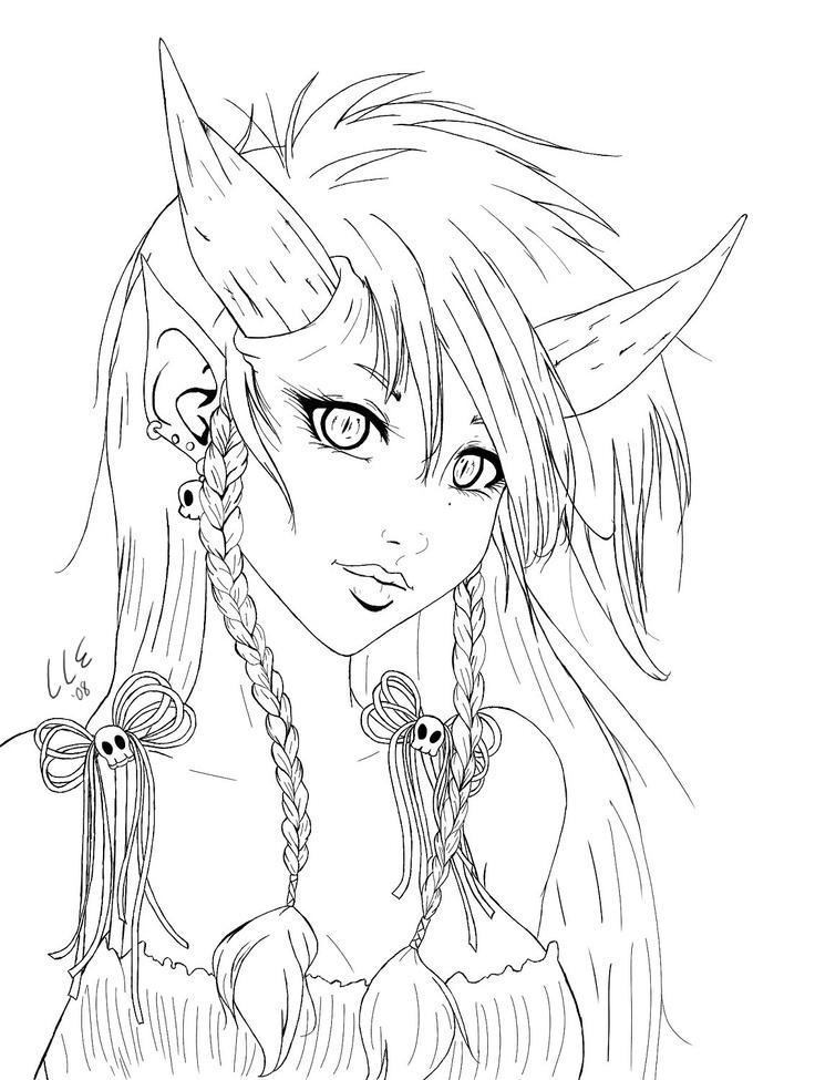 Demon coloring #2, Download drawings