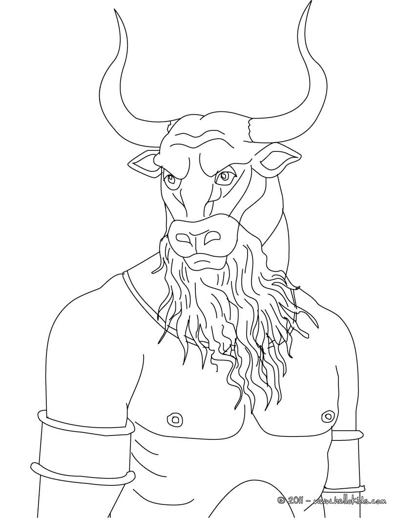 Minotaur coloring #20, Download drawings