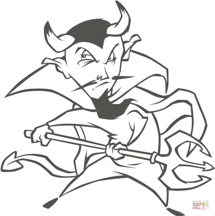 Demon coloring #12, Download drawings