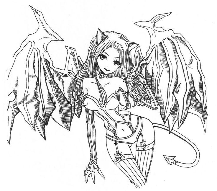 Demon coloring #3, Download drawings