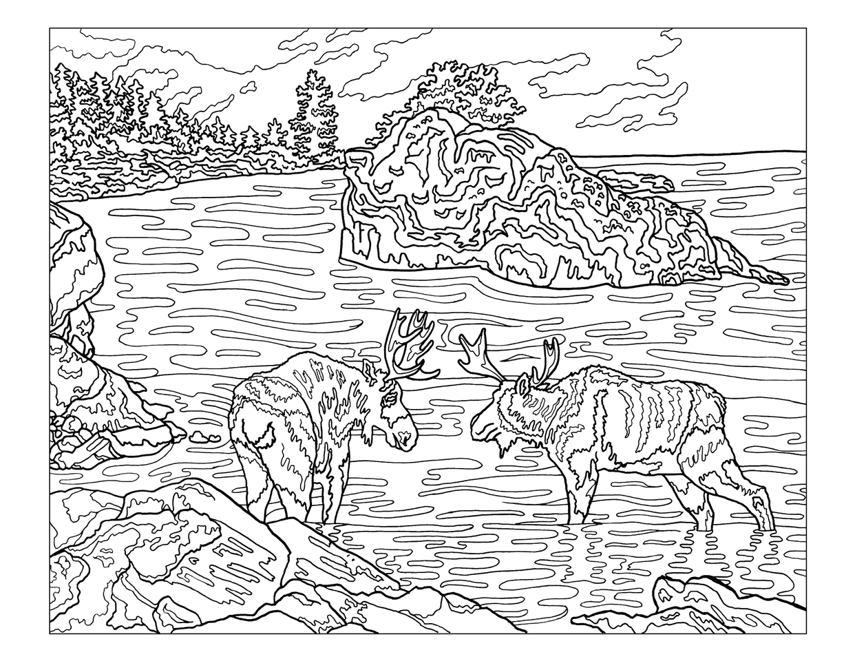Denali National Park coloring #5, Download drawings