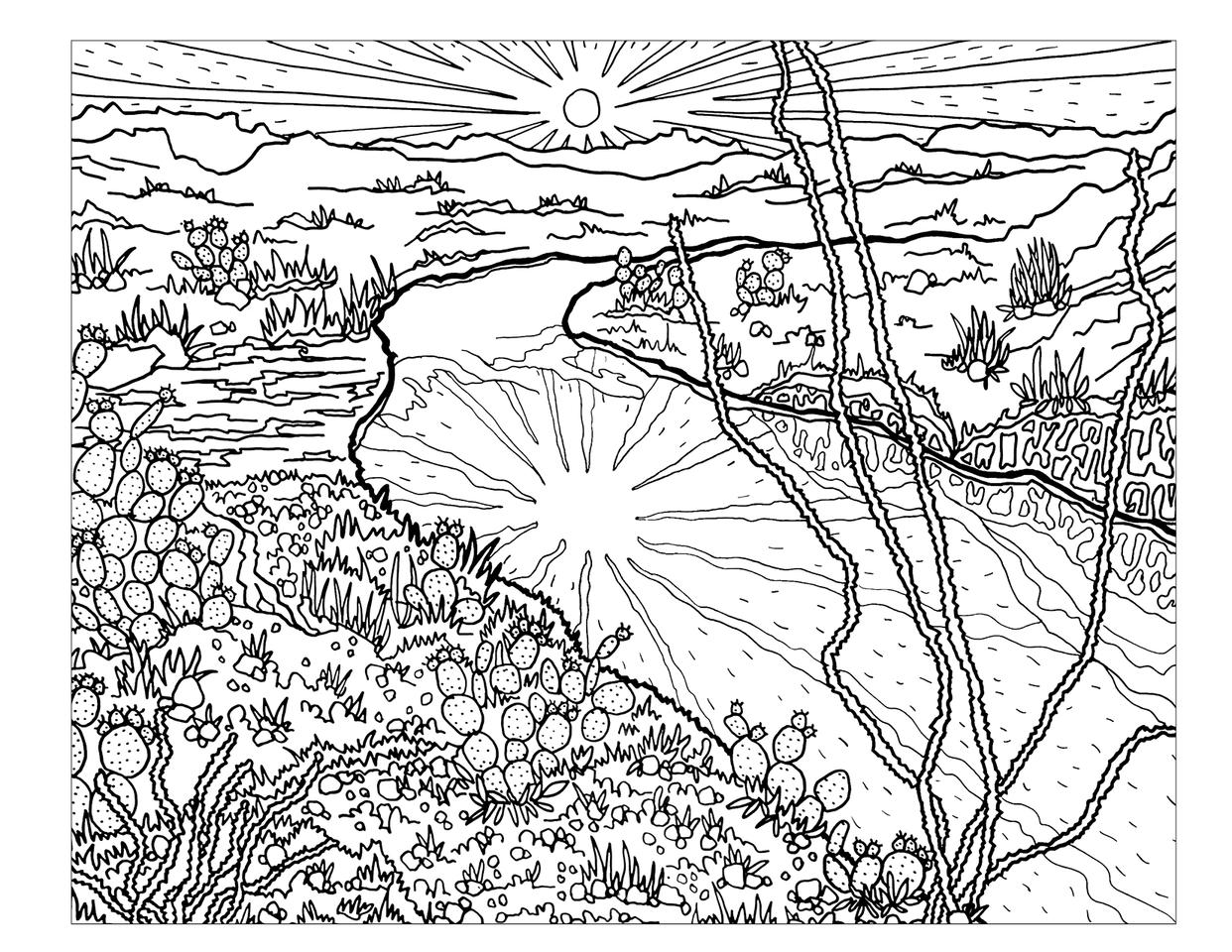 Denali National Park coloring #3, Download drawings