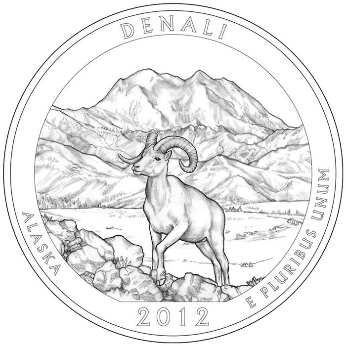 Denali National Park coloring #6, Download drawings