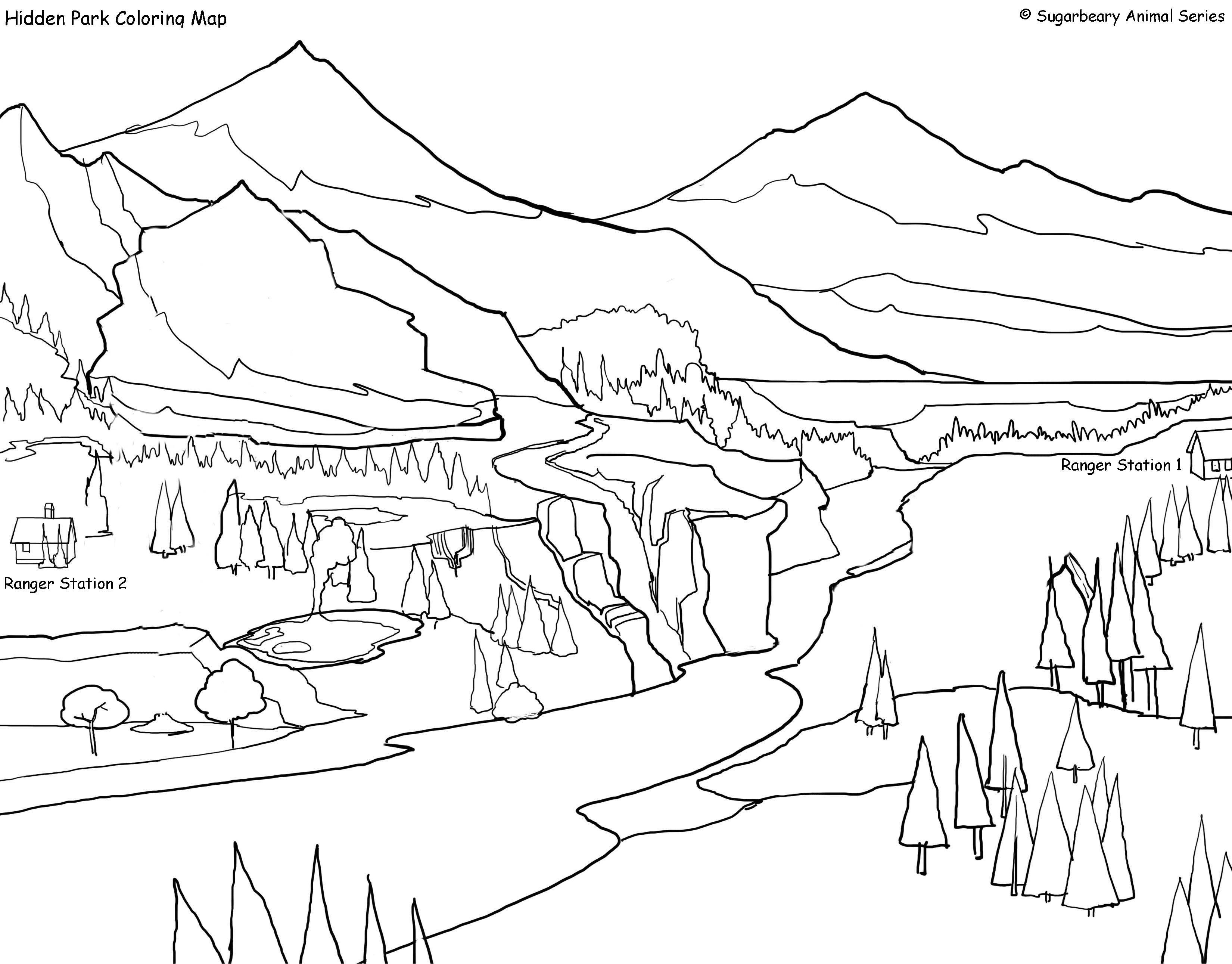 Denali National Park coloring #7, Download drawings
