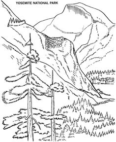 Half Dome coloring #18, Download drawings