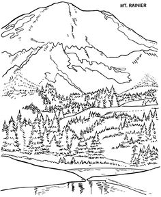 Mount St. Helens coloring #2, Download drawings