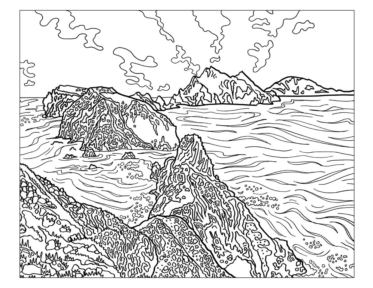Denali National Park coloring #2, Download drawings