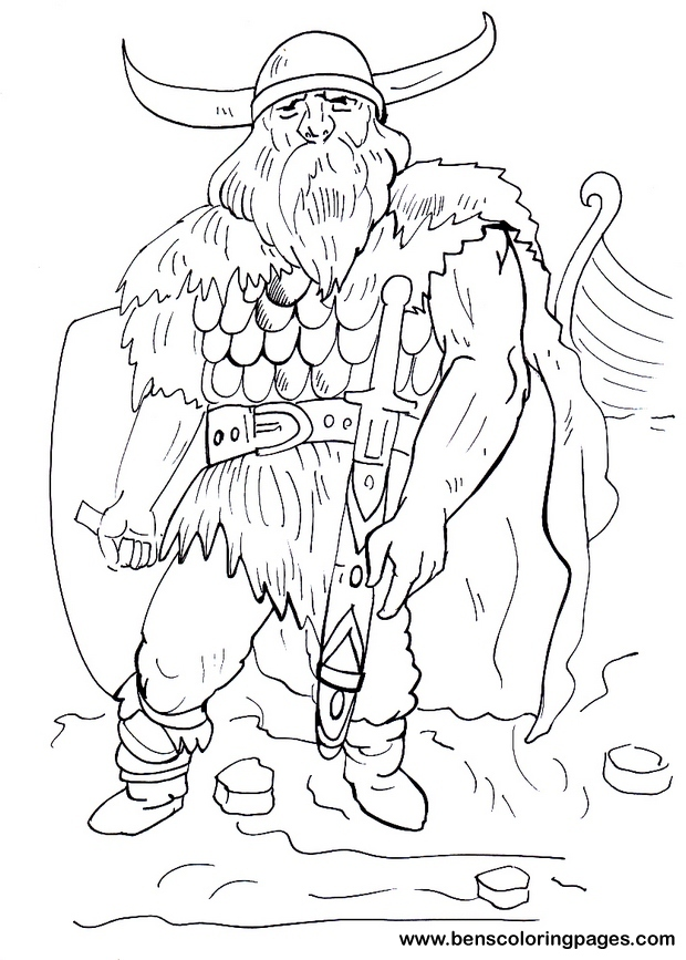 Viking coloring #15, Download drawings
