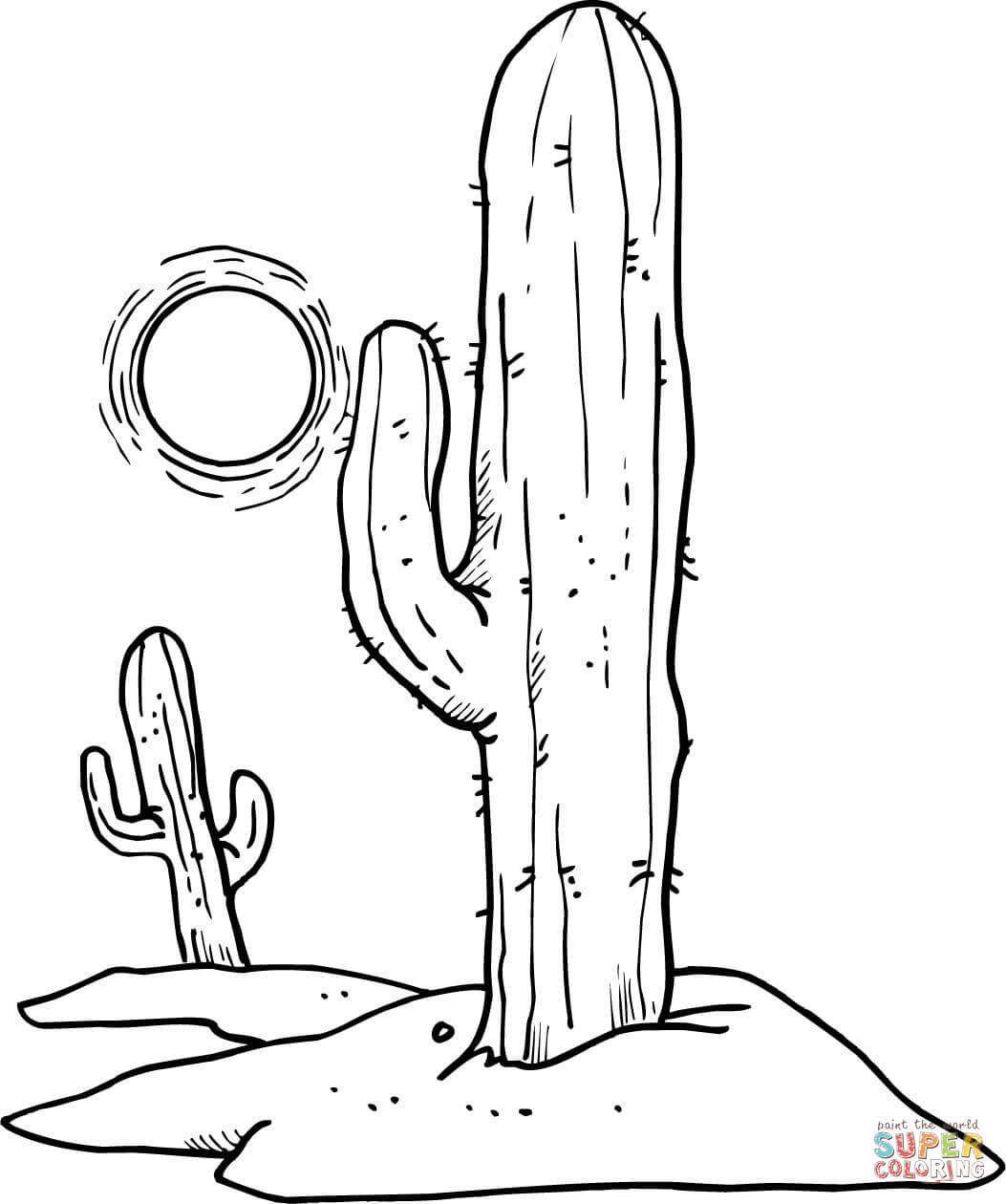 Desert coloring #3, Download drawings