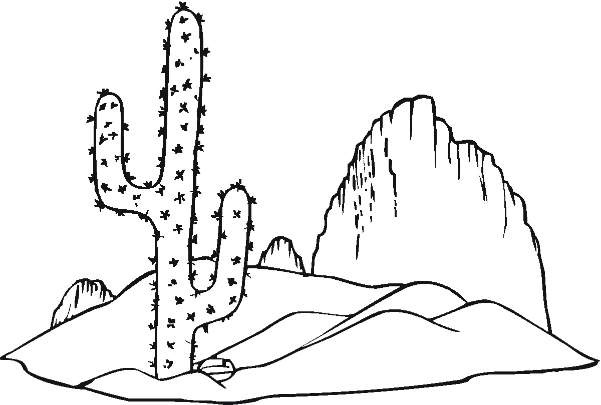 Desert coloring #12, Download drawings