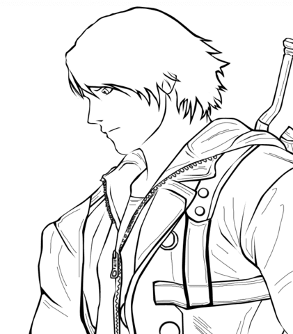 Devil May Cry coloring #17, Download drawings