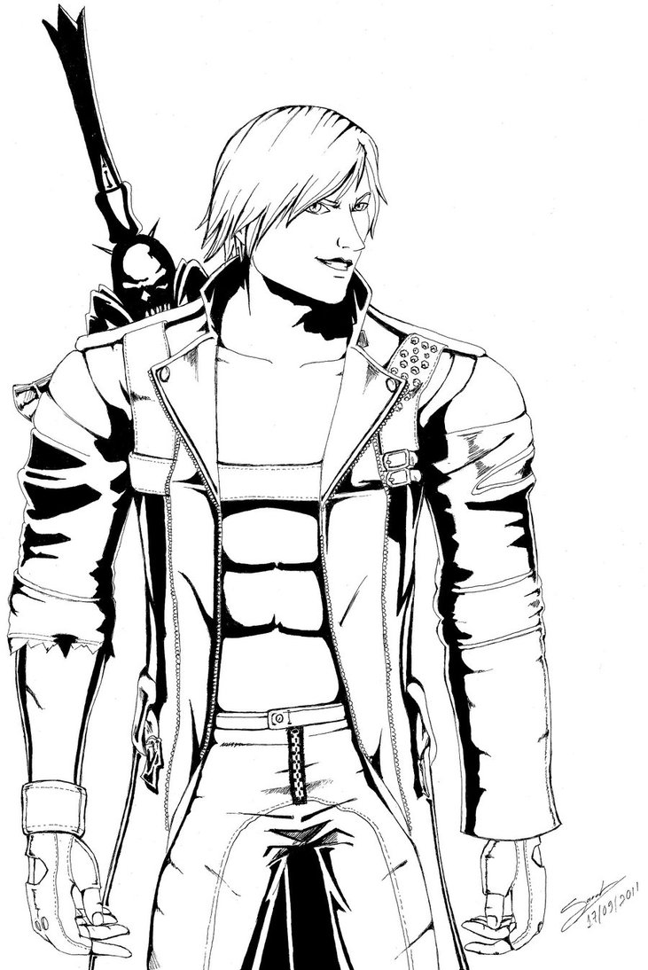Devil May Cry coloring #7, Download drawings