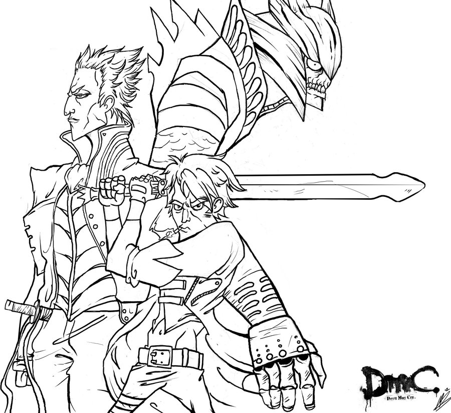 Devil May Cry coloring #8, Download drawings