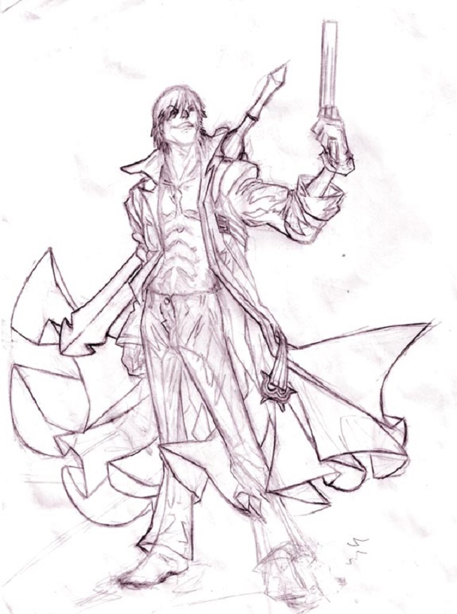 Devil May Cry coloring #1, Download drawings