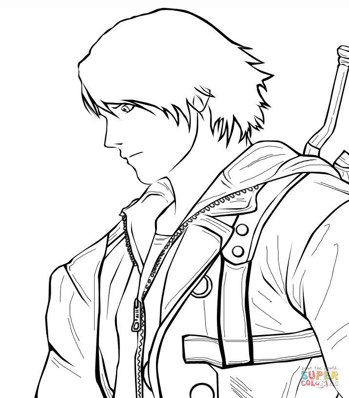 devil may cry coloring pages - photo#30