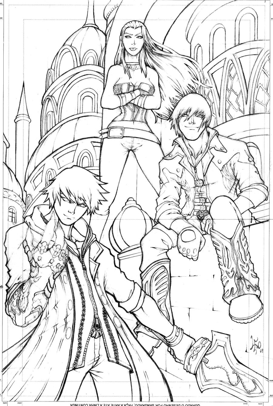 Devil May Cry coloring #14, Download drawings
