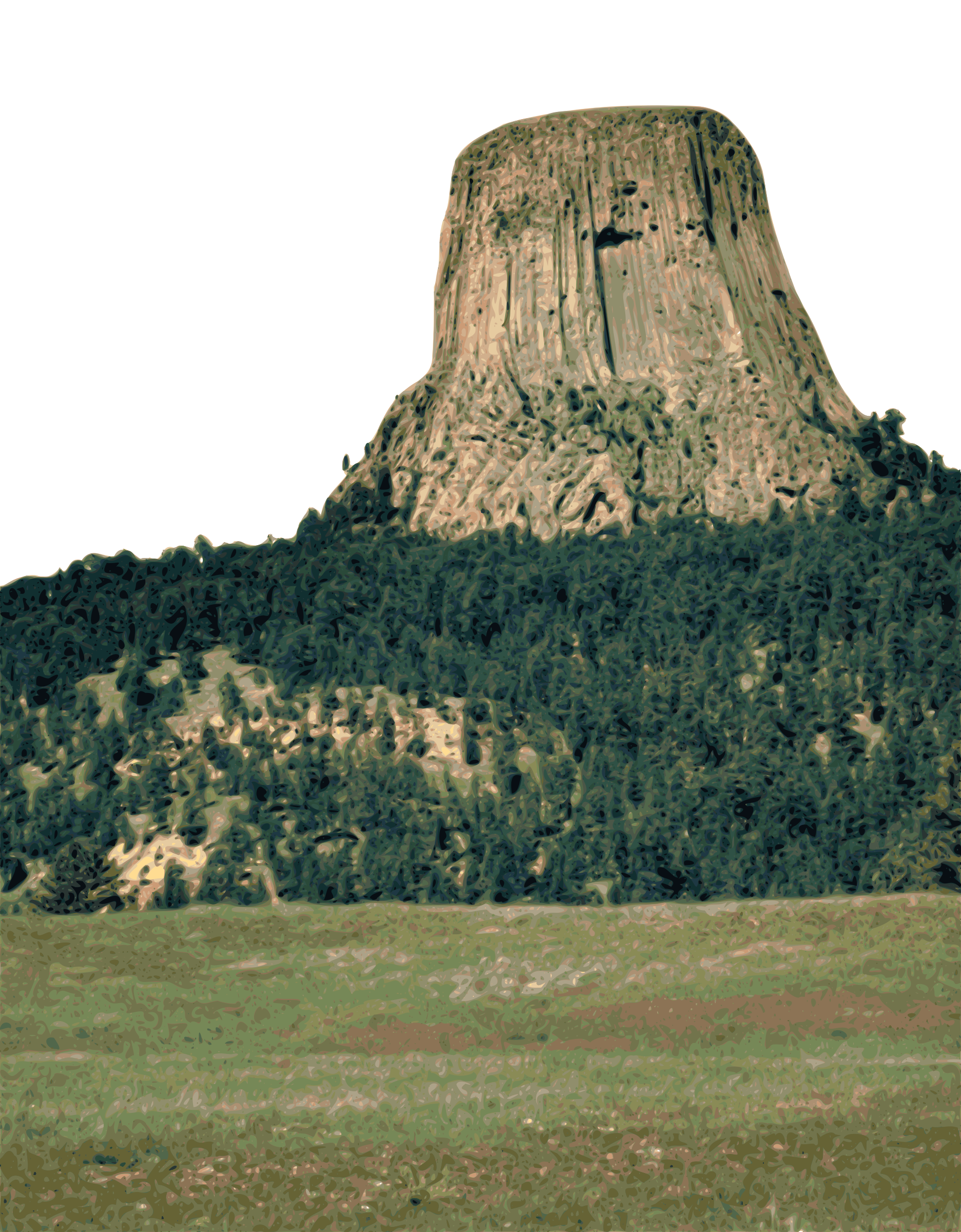 Devils Tower clipart #2, Download drawings