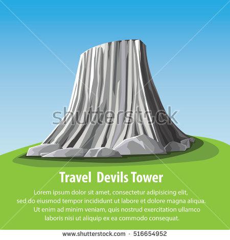 Devils Tower coloring #8, Download drawings