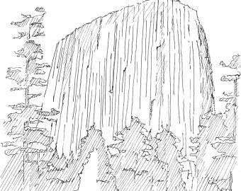 Devils Tower coloring #18, Download drawings