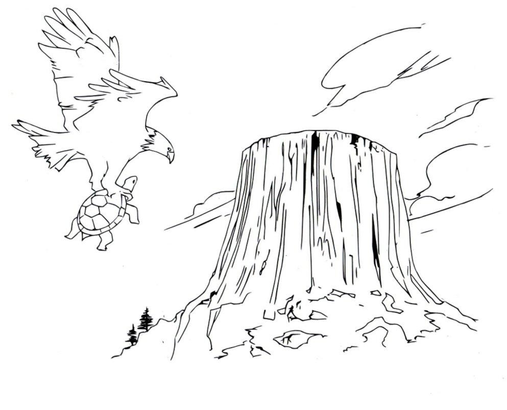 Devils Tower coloring #3, Download drawings