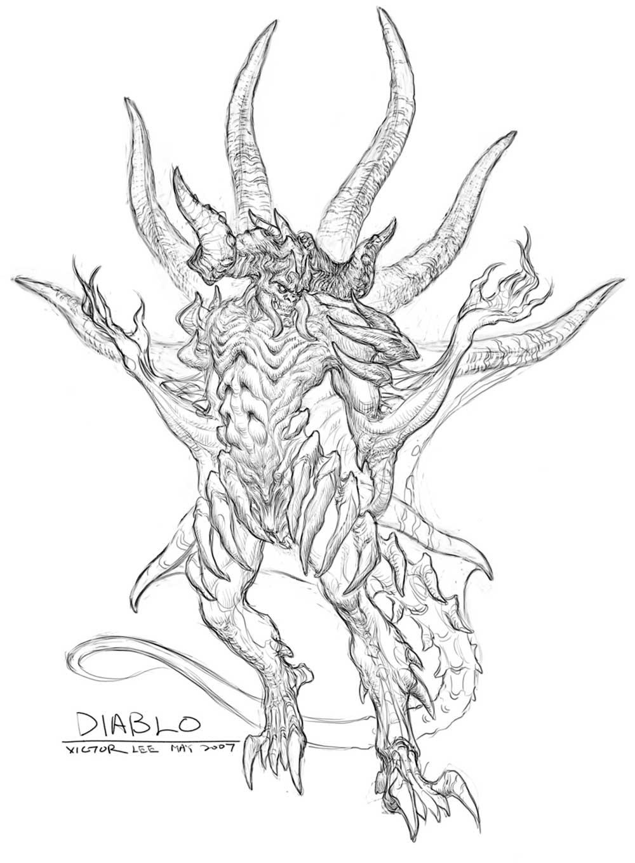 Diablo III coloring #5, Download drawings